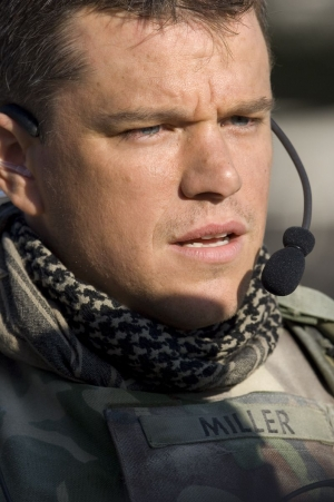 Matt Damon as Roy Miller, trying to unravel the puzzle.