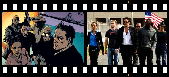 The Losers, as envisioned in the comic book and the movie.