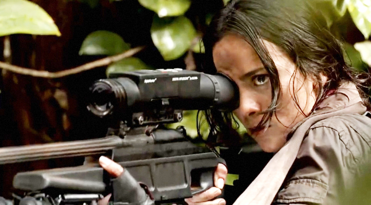 Sniper Alice Braga and her Really Big Gun