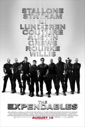 The cast pictured on the movie poster; magnifying glass required.