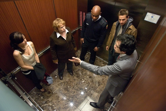 It's about five people stuck in an elevator. You expected explosions?