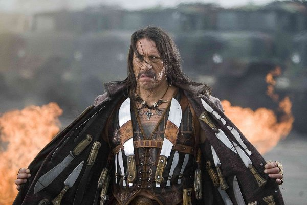 Machete and his babies -- all his lovely sharp knives.