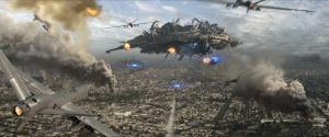 The real stars of the film: the alien ships and the things that go boom.