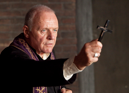 Anthony Hopkins in full-on exorcism mode.