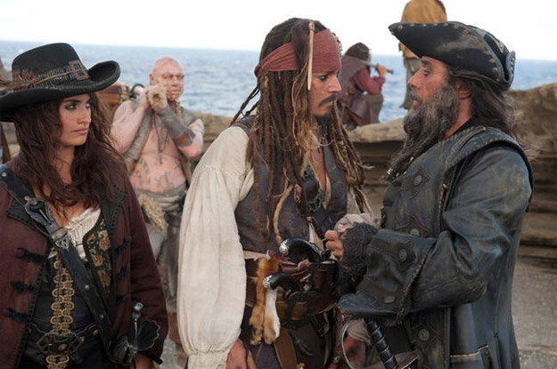 Johnny Depp and Ian McShane discuss whose turn it is to chew the scenery.