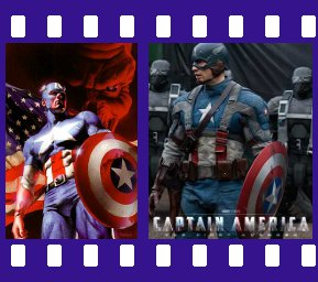 The Captain of the comics versus the Captain of the silver screen.