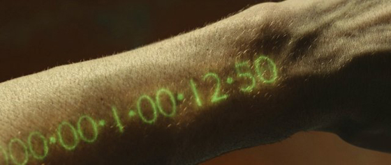 The nifty glowing green readout that tells you how long you can keep breathing.
