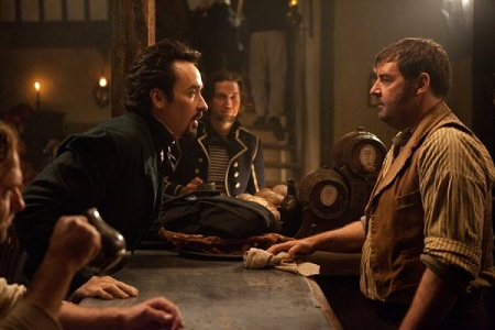 Poe exercising his second greatest talent: starting bar fights.