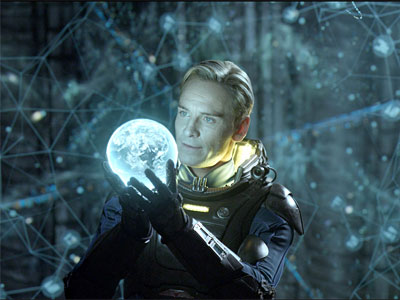 David holds a holographic Earth.