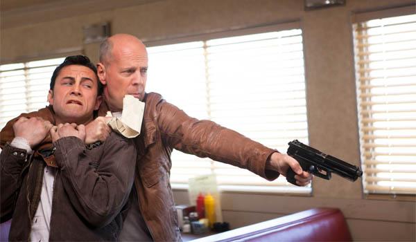 Bruce WIllis holds himself hostage. Er, holds Joseph Gordon-Levitt hostage.