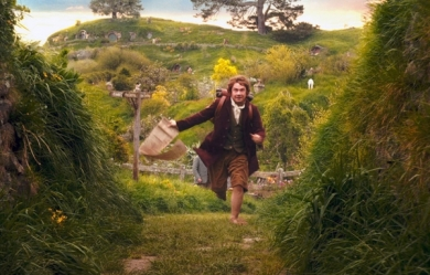 Bilbo Baggins, off on an adventure!