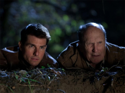Tom Cruise and Robert Duvall. Robert wonders how he ended up in this mess.