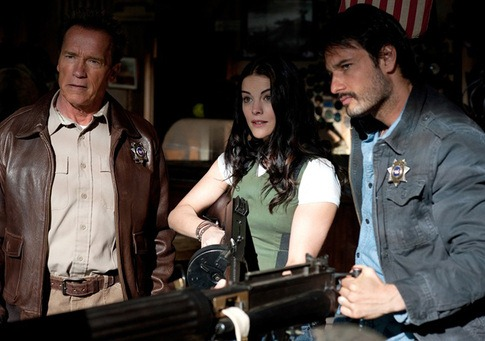 Arnold, Sarah, and Frank are bemused to learn that Lewis has a gun named Vicki.