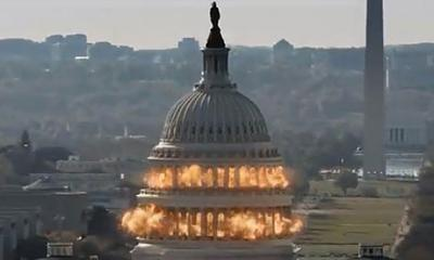 The Capitol dome exploding.  Remember, fireworks are not toys.