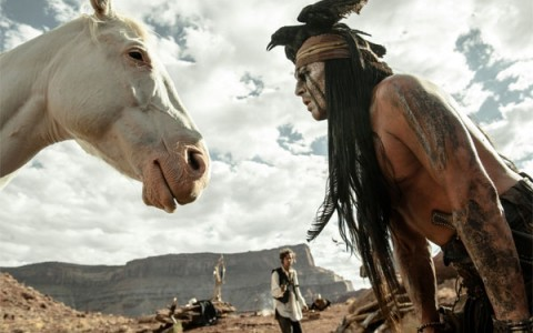 Silver & Tonto, with John Reid in the back. The horse is the smartest one.