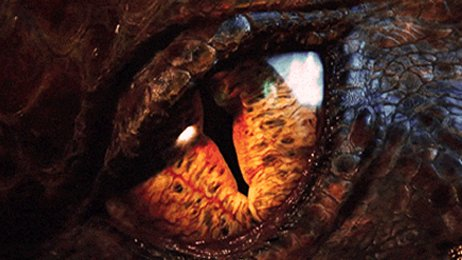 Close up of the eye of Smaug.  Not a sight for the faint of heart.
