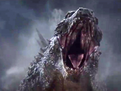 Godzilla challenges the Kraken from the Clash of the Titans to a roaring contest