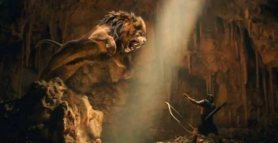 The legend takes time out to play with his cat. I mean, the Nemean Lion.