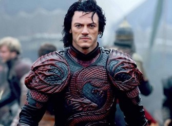 A nice picture of Luke Evans in his very cool dragon armor.