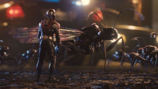 The Ant-Man and his trusty steed, the flying ant.