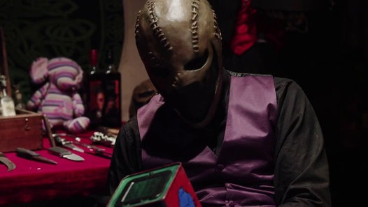 The Mask with a Jack in the Box. You don't want to know what he does with that.