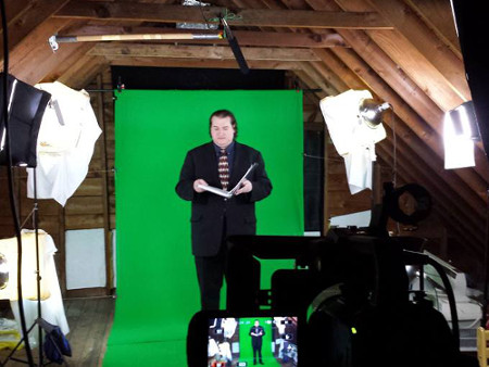 There's a surprising amount of green screen work for a story set inside one hous