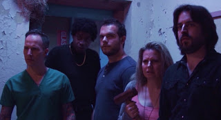 Dentist, Ray Ray, Chris, Denise, and Dallas look at something gross and scary.