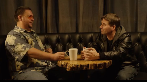 Steve and Adam have a really strange talk over coffee.