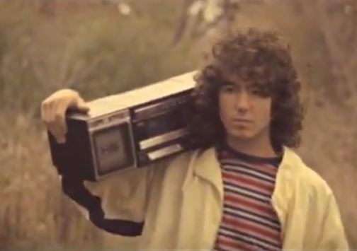 Future victim. He's blissfully unaware that his tape player is about to break.