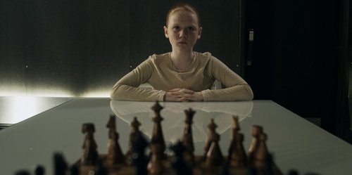 Ellie and chessboard. Shall we play a game?