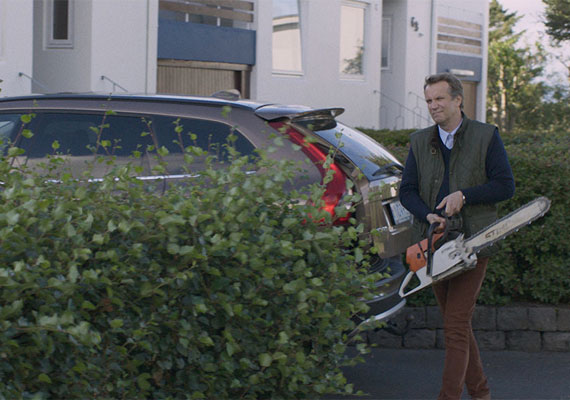 Konrad and his chainsaw. He has no idea what he's doing with that thing.